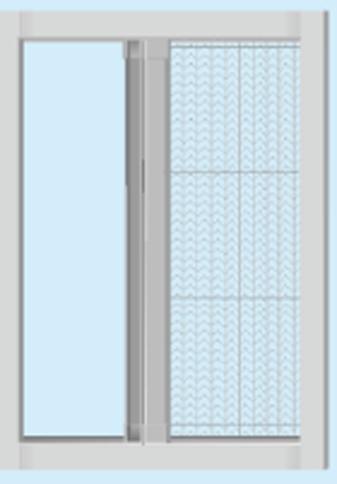 折叠隐形纱窗